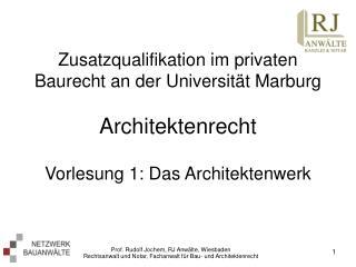 Was verstehen wir unter Architektenrecht?