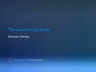The Good Giving Guide