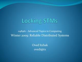 Locking STMs