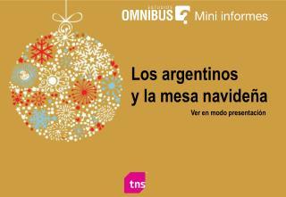Los argentinos y la mesa navideña