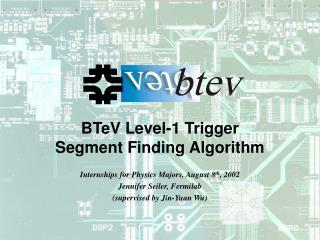 BTeV Level-1 Trigger Segment Finding Algorithm