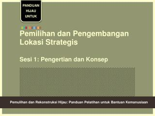 Pemilihan dan Pengembangan Lokasi Strategis  Sesi 1: Pengertian dan Konsep