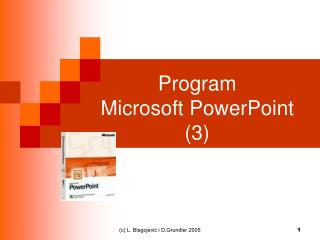 Program  Microsoft PowerPoint (3)