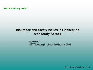 NETT Meeting 2008