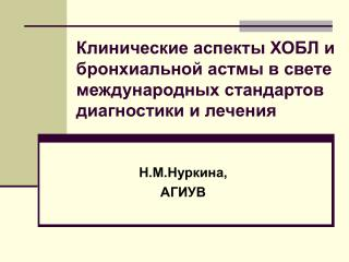 Н.М.Нуркина,  АГИУВ