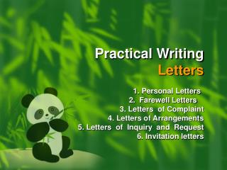 Practical Writing  Letters