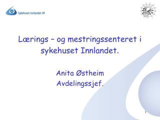 L�rings � og mestringssenteret i sykehuset Innlandet .