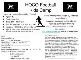 HOCO Football  Kids Camp
