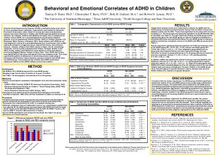 Behavioral and Emotional Correlates of ADHD in Children