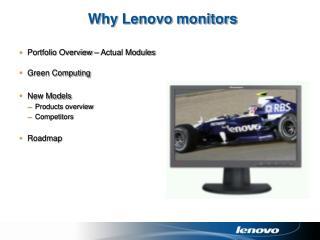 Why Lenovo monitors