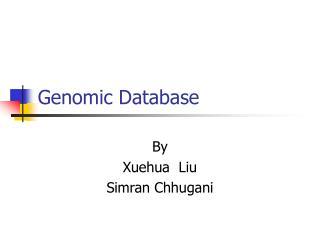 Genomic Database