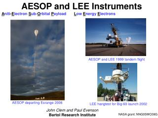 AESOP and LEE Instruments