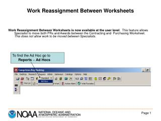 Work Reassignment Between Worksheets