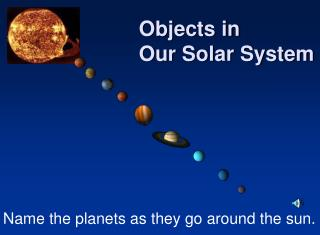 Name the planets as they go around the sun.