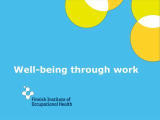 Well-being through work