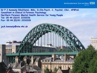 Dr P J Kennedy BSc(Hons), MSc, D.Clin.Psych, C. Psychol, CSci, AFBPsS
