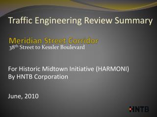 Meridian Street Corridor