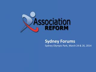 Sydney Forums Sydney Olympic Park, March 24 & 26, 2014