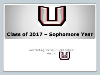 Class of 2017 – Sophomore Year