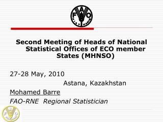 Second Meeting of Heads of National Statistical Offices of ECO member States (MHNSO)