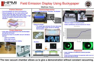 Field Emission Display Using Buckypaper