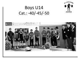 Boys U14    Cat.: -40/-45/-50