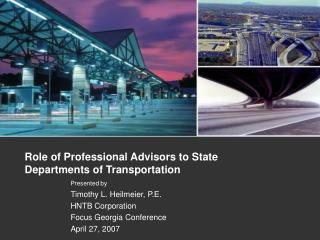 Role of Professional Advisors to State Departments of Transportation