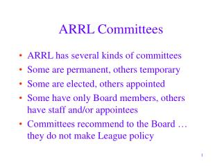 ARRL Committees