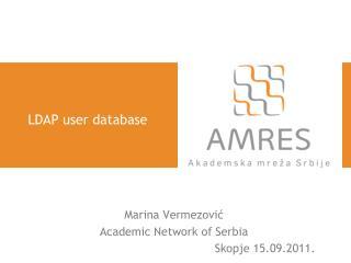LDAP user database