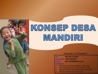 KONSEP DESA MANDIRI