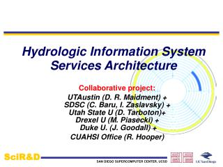 Hydrologic Information System Services Architecture