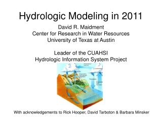 Hydrologic Modeling in 2011