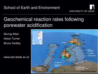 Geochemical reaction rates following porewater acidification