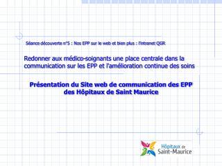 Séance découverte n°5 : Nos EPP sur le web et bien plus : l'intranet QGR
