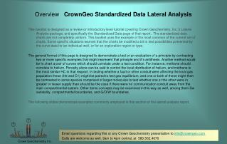 Overview   CrownGeo Standardized Data Lateral Analysis