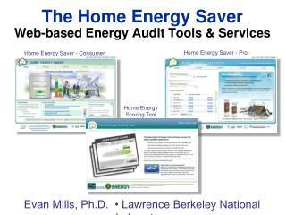 The Home Energy Saver  Web-based Energy Audit Tools & Services