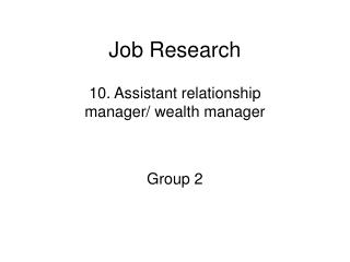 Job Research