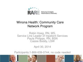 Winona Health: Community Care Network Program