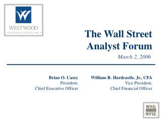The Wall Street Analyst Forum