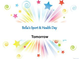 Bella's Sport & Health Day