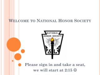 Welcome to National Honor Society