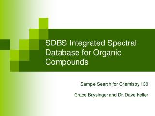 SDBS Integrated Spectral Database for Organic Compounds