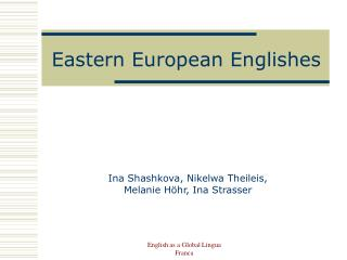 Eastern European Englishes