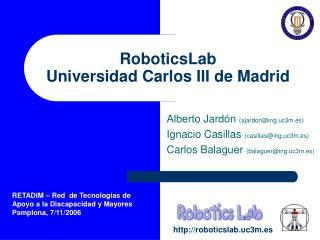 RoboticsLab Universidad Carlos III de Madrid