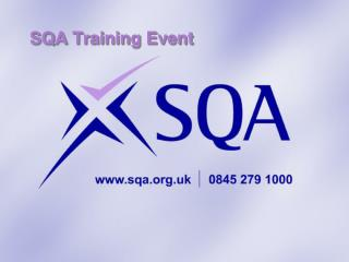 SQA Training Event