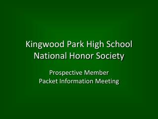 Kingwood Park High School National Honor Society