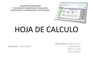 HOJA DE CALCULO