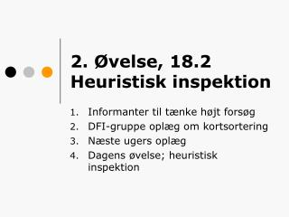 2. Øvelse, 18.2 Heuristisk inspektion
