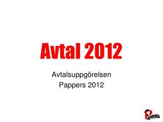 Avtal 2012