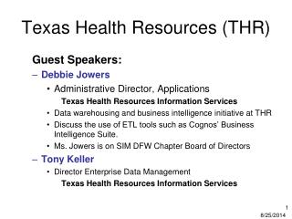 Texas Health Resources (THR)